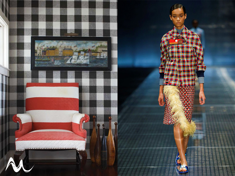 Fashion to Furnishings Plaid Trend