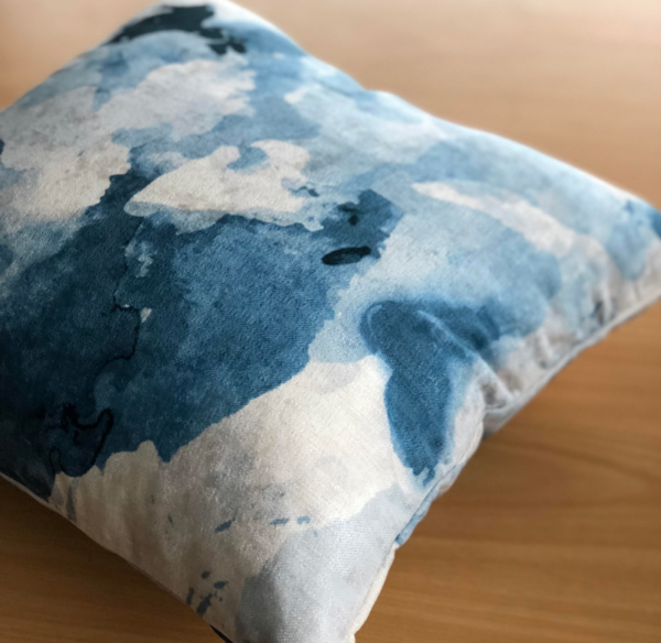 Ashfield Tasman - Watercolour Blue Cushion