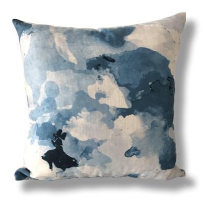 Ashfield Tasman - Watercolour Blue Cushion