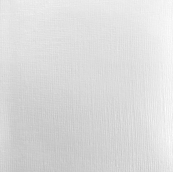 Linen Look Wallpaper in White