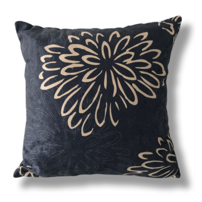 Nelson Oracle - Dark Charcoal Floral Cushion
