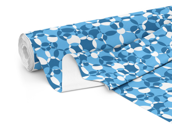Fabric roll with Compass print in Deep Sea