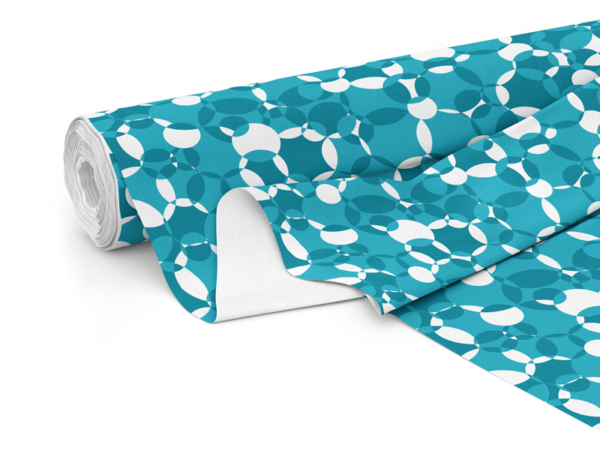 Fabric roll with Compass print in Lake