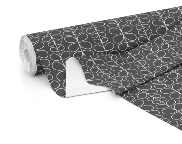 Fabric roll with Fern print in Charcoal