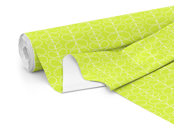 Fabric roll with Fern print in Lime