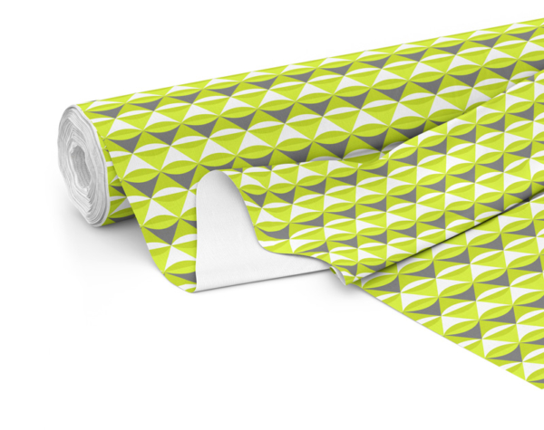 Fabric roll with Serenity print in Lime