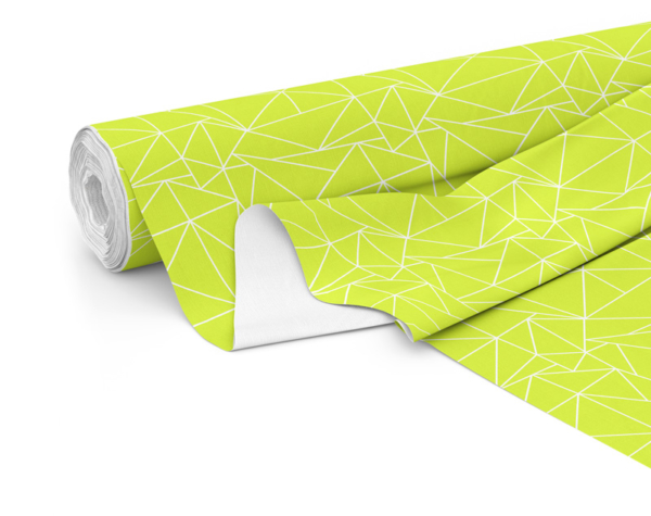 Fabric roll with Solace print in Lime