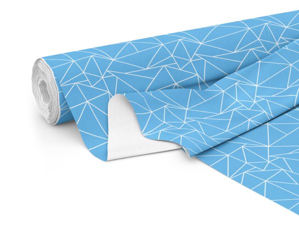 Fabric roll with Solace print in Sky