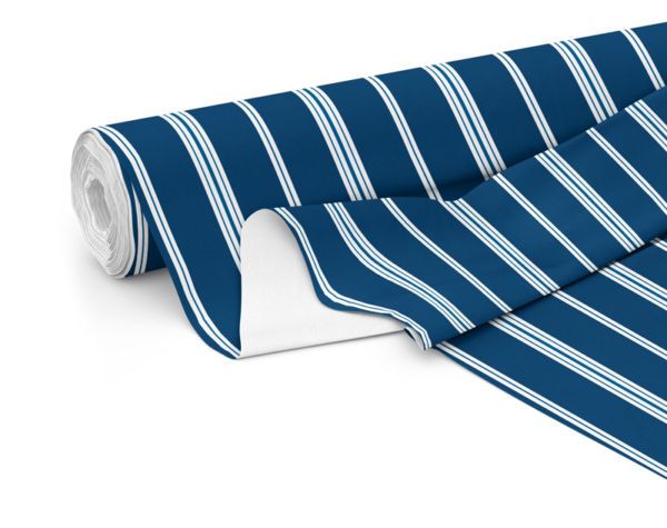 Fabric roll with Wander print in Navy